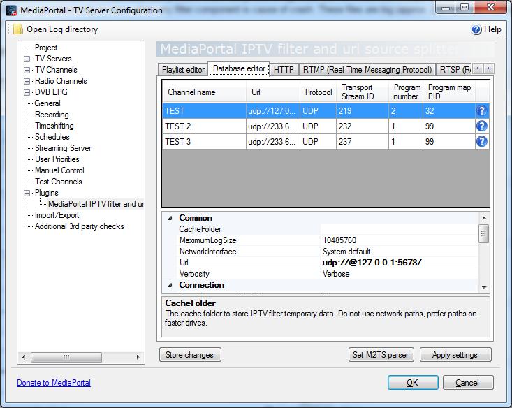 MediaPortal IPTV filter and url source splitter - MEDIAPORTAL